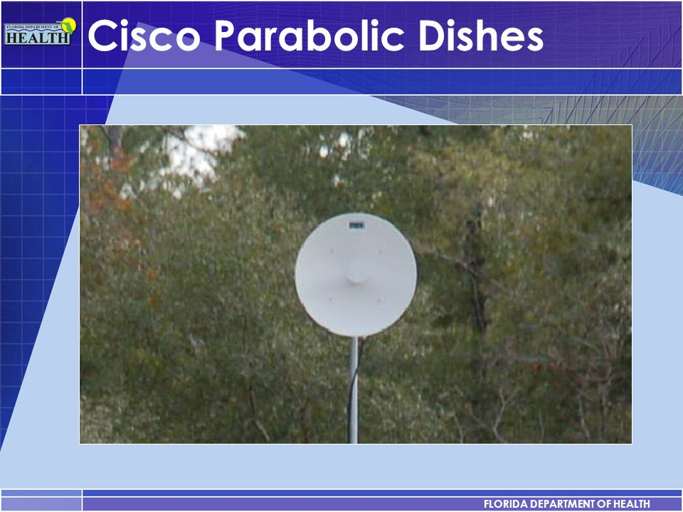 FLORIDA DEPARTMENT OF HEALTH Cisco Parabolic Dishes YOUR SUBTOPICS GO HERE FLORIDA DEPARTMENT OF HEALTH