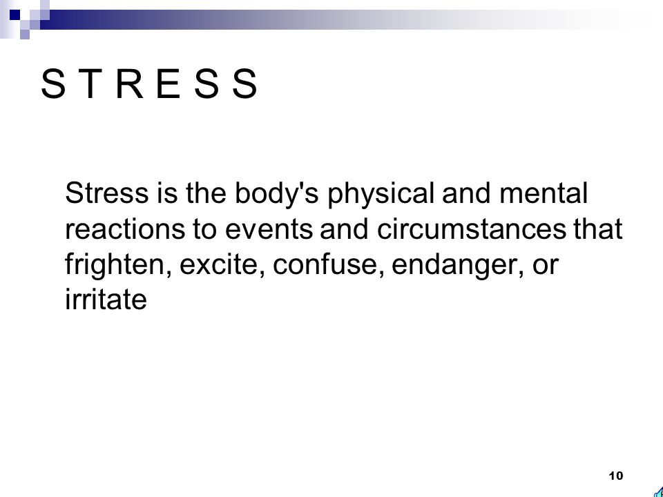 Stress and Disasters