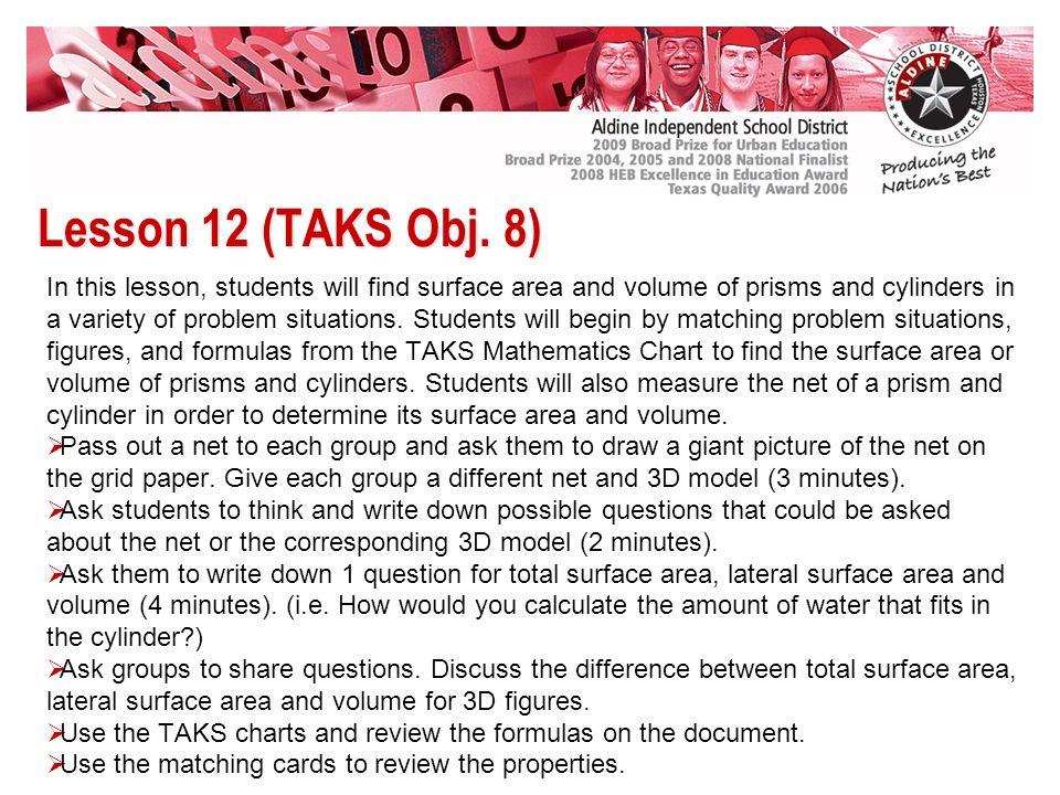 Lesson 12 (TAKS Obj.