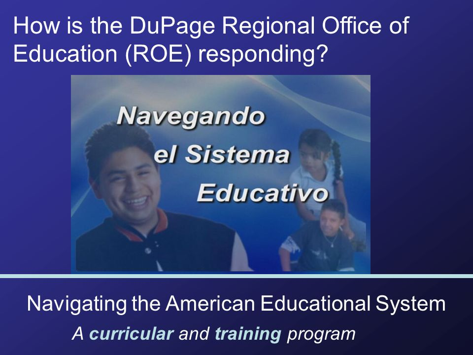 How is the DuPage Regional Office of Education (ROE) responding.