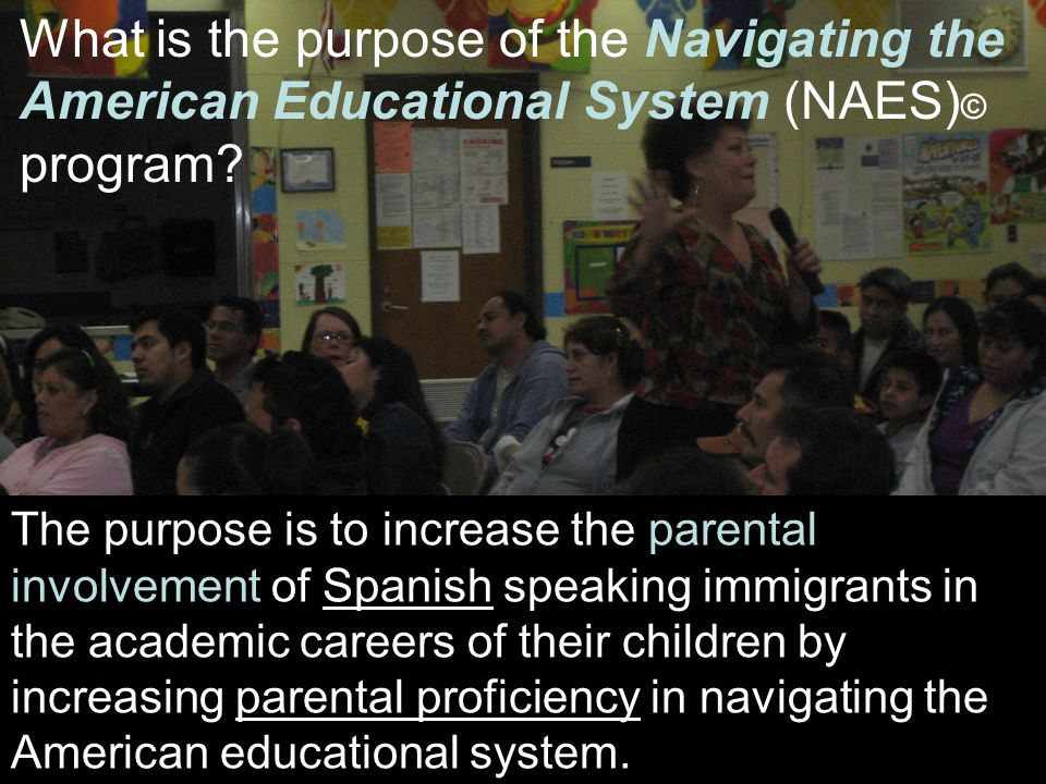 What is the purpose of the Navigating the American Educational System (NAES) © program.