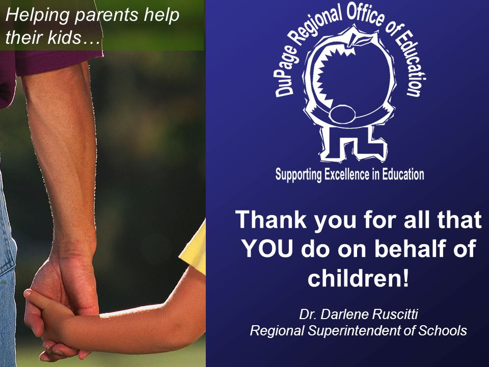 Thank you for all that YOU do on behalf of children.
