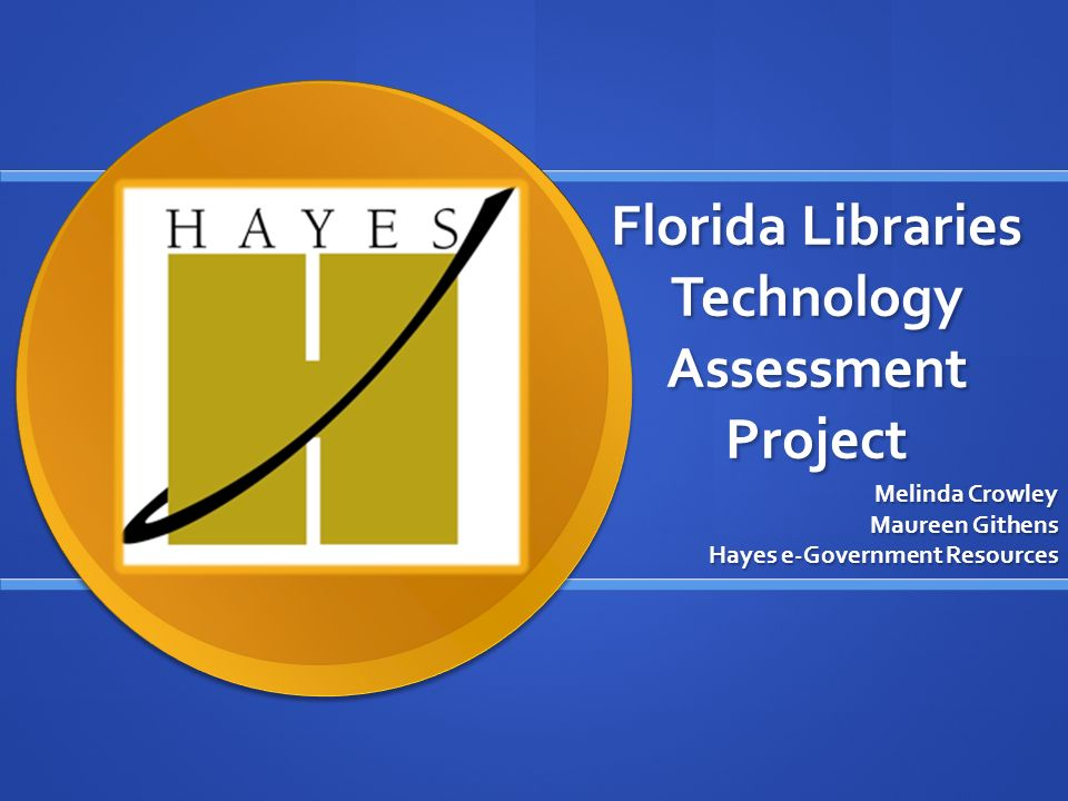 Florida Libraries Technology Assessment Project Melinda Crowley Maureen Githens Hayes e-Government Resources