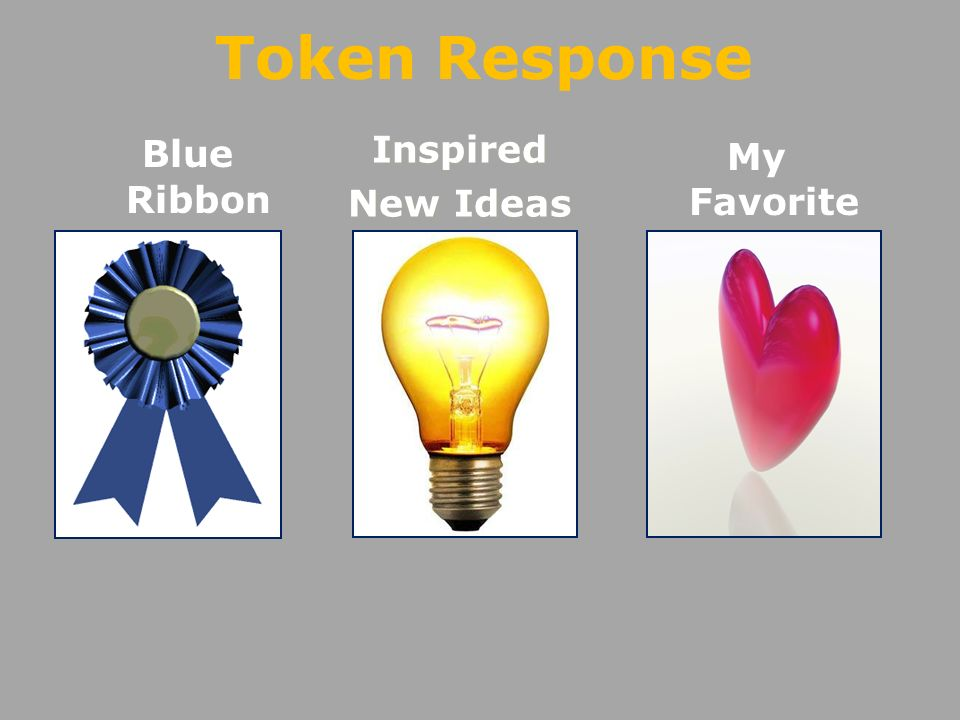 Blue RibbonInspired New Ideas My Favorite Token Response