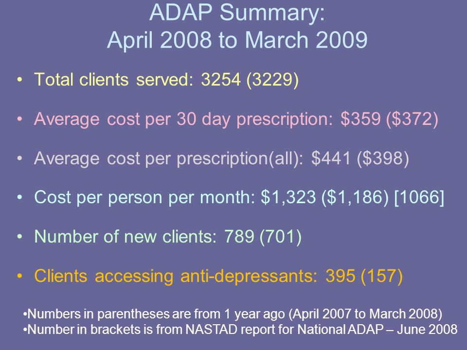 Monthly Data: Persons and Costs April 2005 to March 2009