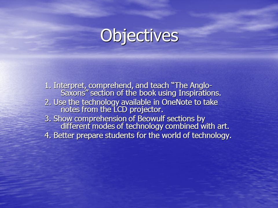 Objectives 1.