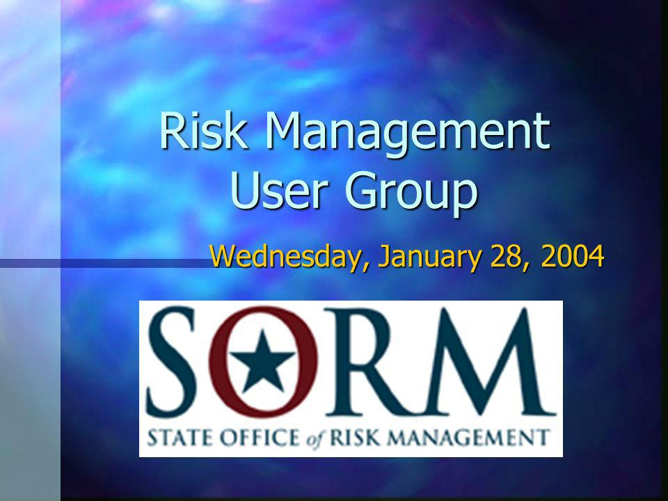 Risk Management User Group Wednesday, January 28, 2004