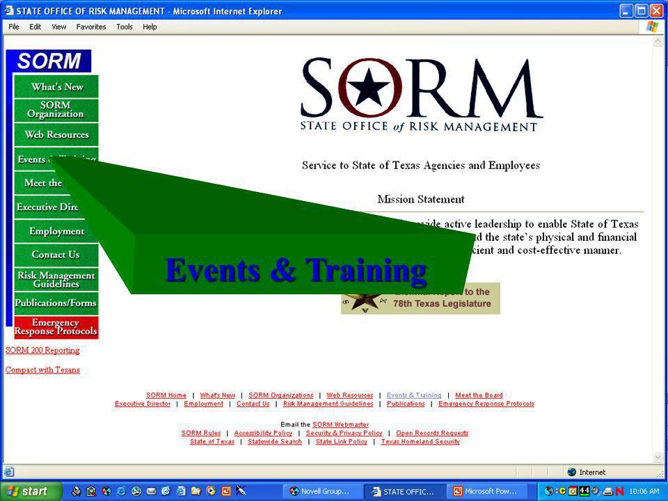 Events & Training