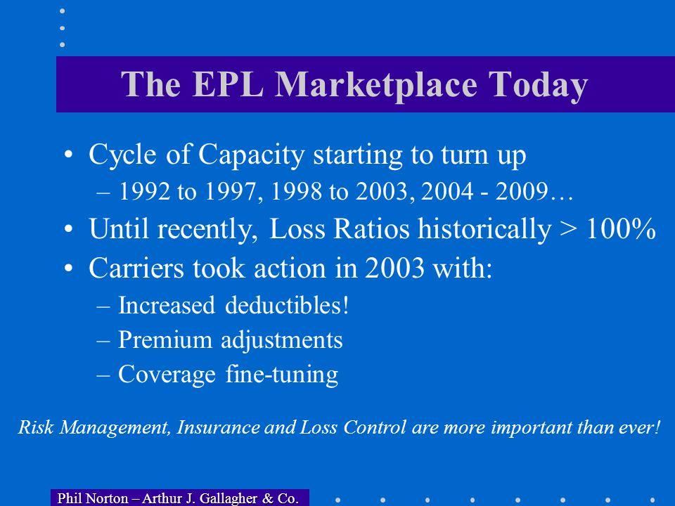 Phil Norton – Arthur J. Gallagher & Co. Phil Norton – Arthur J. Gallagher & Co. Trends in EPL Insurance The EPL exposure, including potential for cata