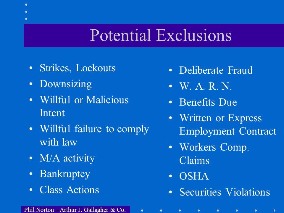 Phil Norton – Arthur J. Gallagher & Co. Phil Norton – Arthur J. Gallagher & Co. Who can bring covered claims? Employees Students Applicants for hire E