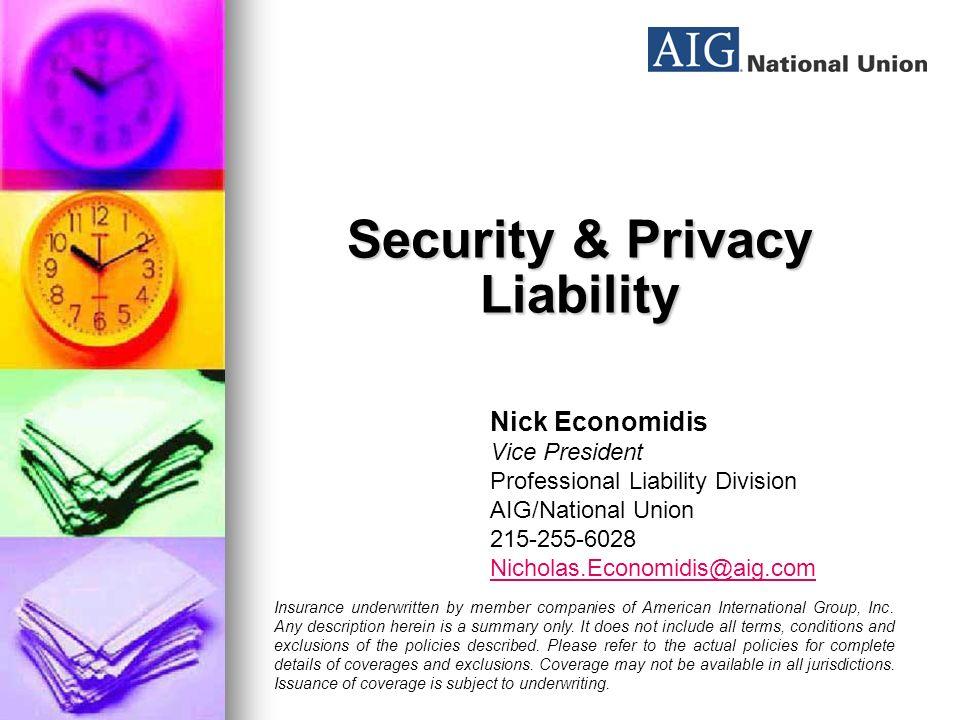 Public Officials Coverage / Cyber Risk Jean Moreau AIG
