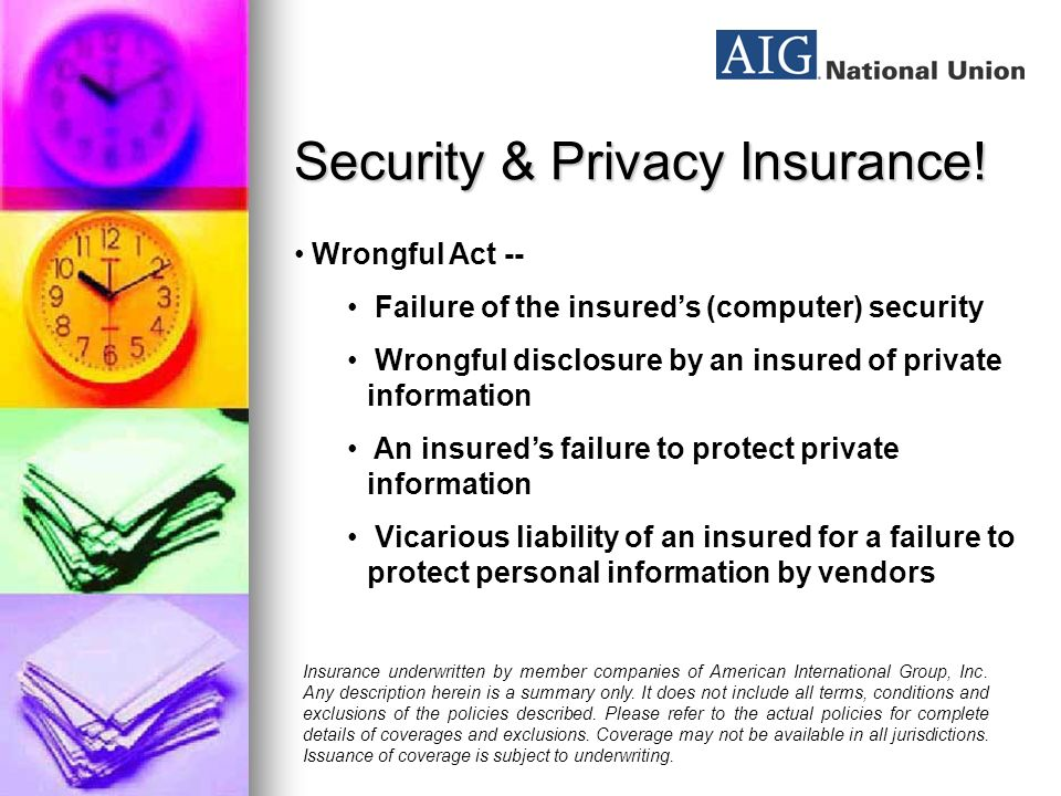 Security & Privacy Insurance.