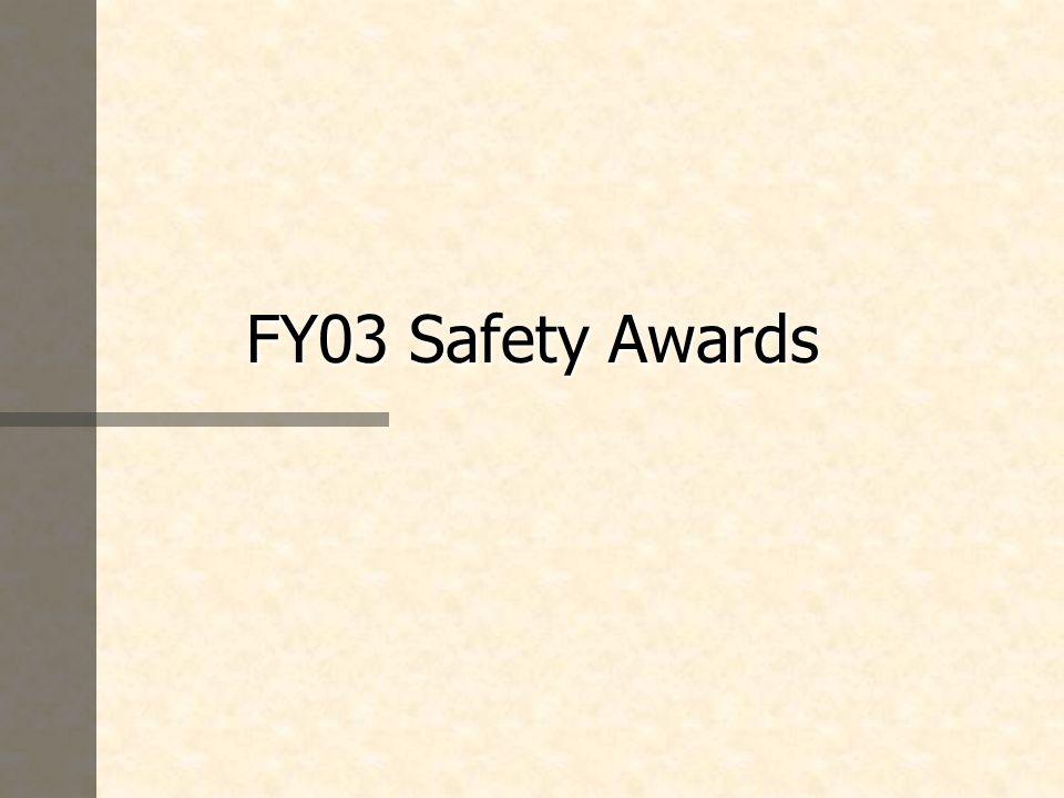 FY03 Safety Awards