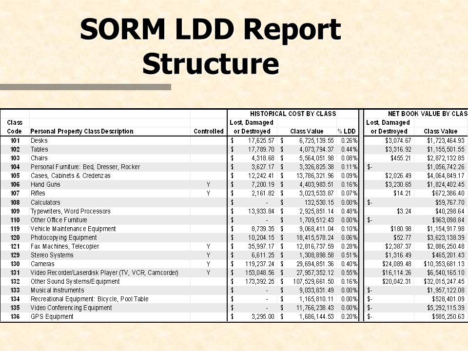 SORM LDD Report Structure