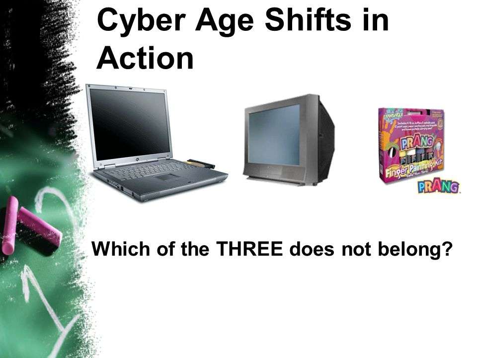 Cyber Age Shifts in Action Which of the THREE does not belong?