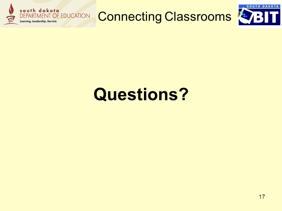 17 Questions Connecting Classrooms