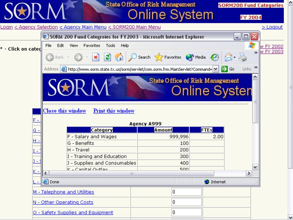 August 26, 2004 Risk Management User Group32