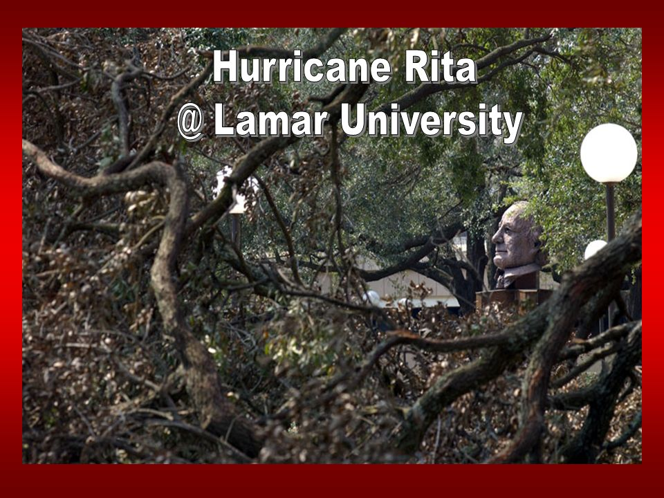 Texas State University System Hurricane Rita Some Lessons Learned o Review FEMA Rules o Category A & B, Timing, Limits o Category E Insurance Requirements o Be Prepared to Ride Out Funding Needs