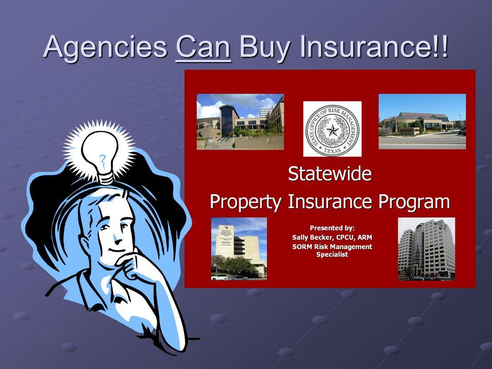 How Insurance Works Presented by: Benny Vanden Avond SORM Risk Management Specialist