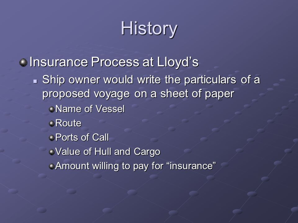History Foundation of modern insurance Lloyds of London (1688) Lloyds of London (1688) Edward Lloyds Coffeehouse