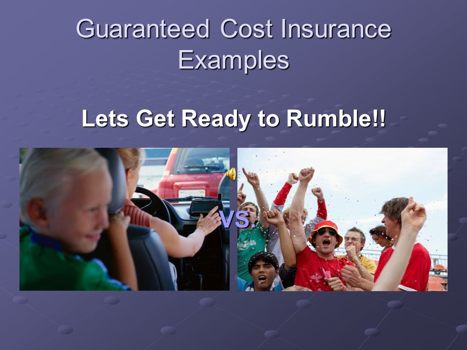 Guaranteed Cost Insurance Underwriting Premium Depends on Classification Group Premium = (A) x (Pure Premium) + B A = Administrative Costs proportionate to loss A = Administrative Costs proportionate to loss B = Administrative Loading Fee B = Administrative Loading Fee Pure Premium = Amount insurer needs to cover loss Pure Premium = Amount insurer needs to cover loss = Frequency x Severity = Frequency x Severity