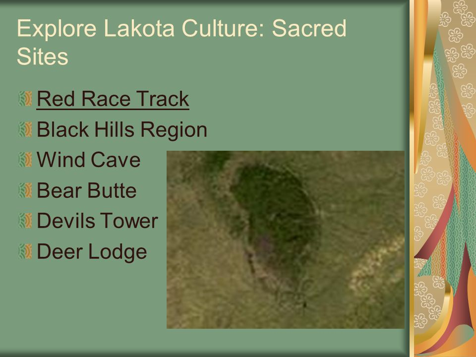 Explore Lakota Culture: Sacred Sites Red Race Track Black Hills Region Wind Cave Bear Butte Devils Tower Deer Lodge