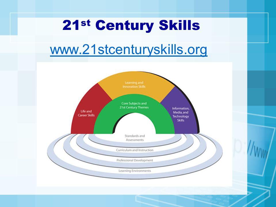21 st Century Skills www.21stcenturyskills.org
