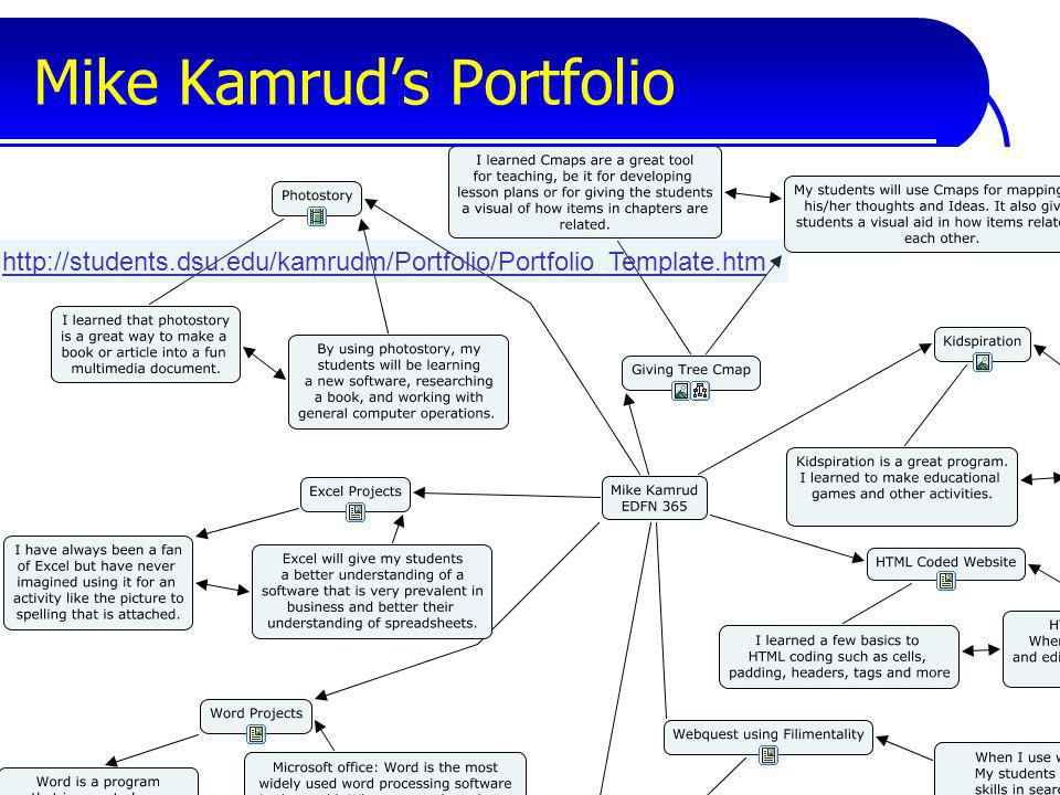 Mike Kamruds Portfolio http://students.dsu.edu/kamrudm/Portfolio/Portfolio_Template.htm