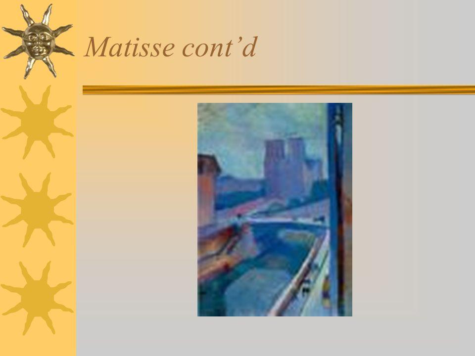 Matisse contd