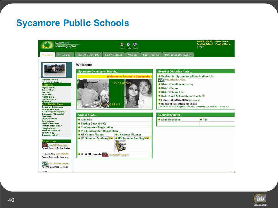 40 Sycamore Public Schools