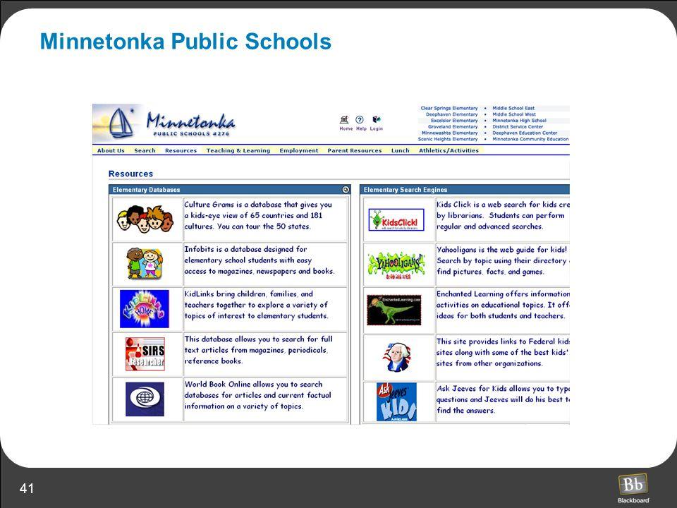 41 Minnetonka Public Schools
