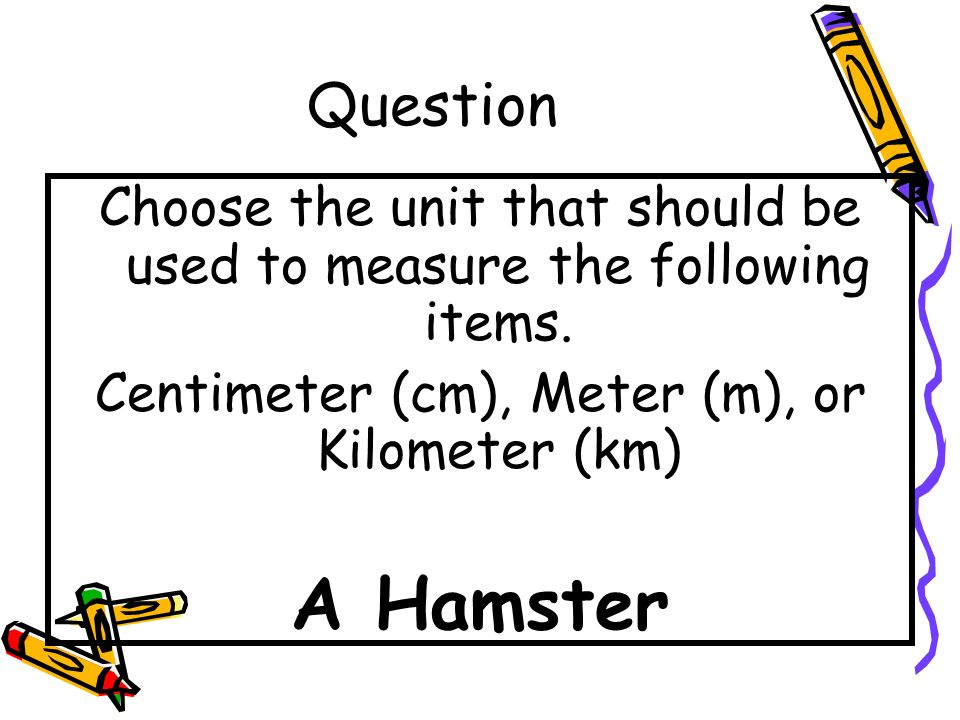 Answer The ant is 1 centimeter long.