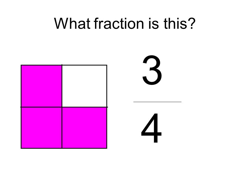 What fraction is this? 3 4