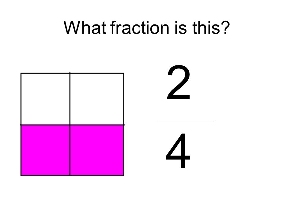 What fraction is this? 2 4