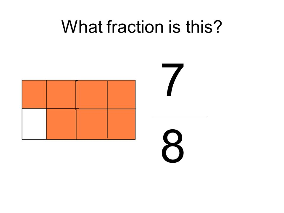 What fraction is this? 7 8