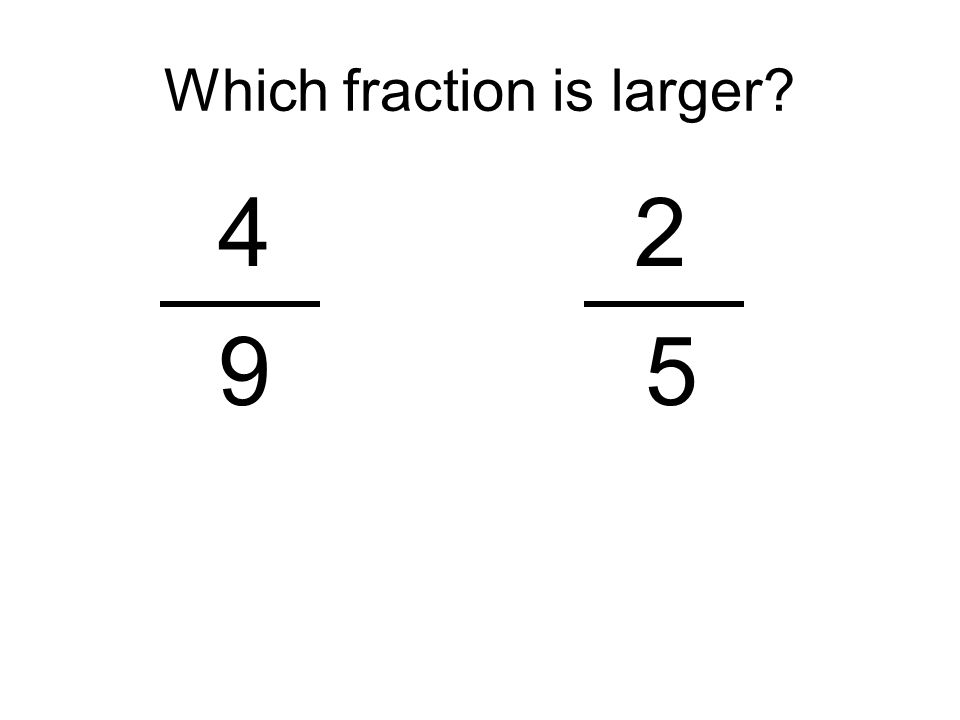 Which fraction is larger? 42 9 5