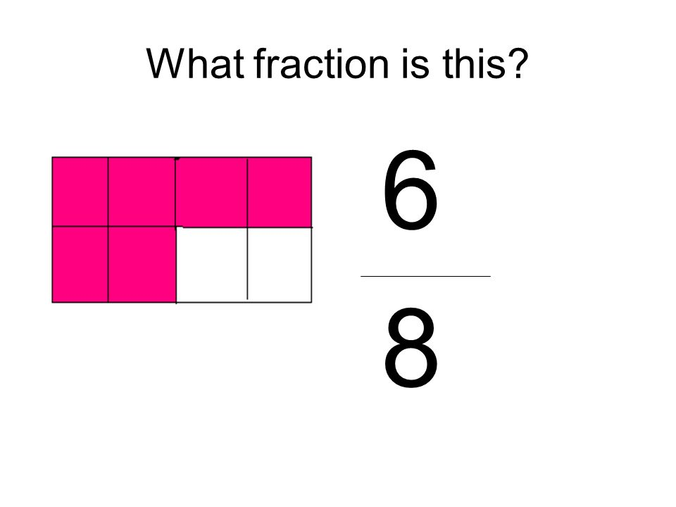 What fraction is this? 6 8
