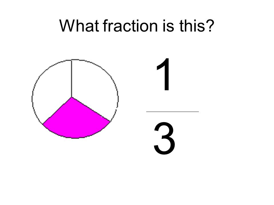 What fraction is this? 1 3