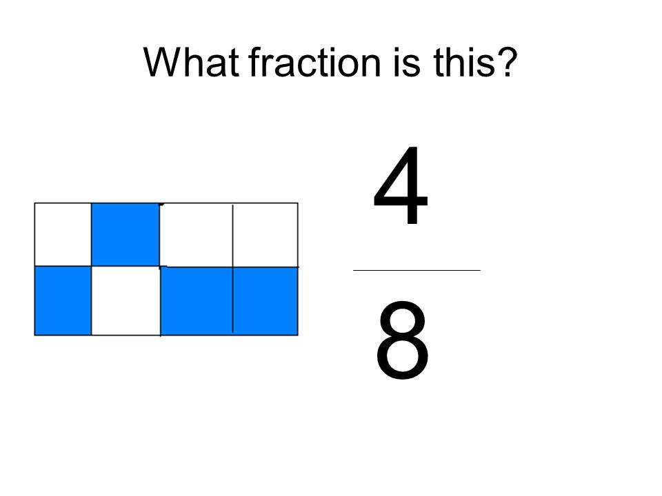 What fraction is this? 4 8