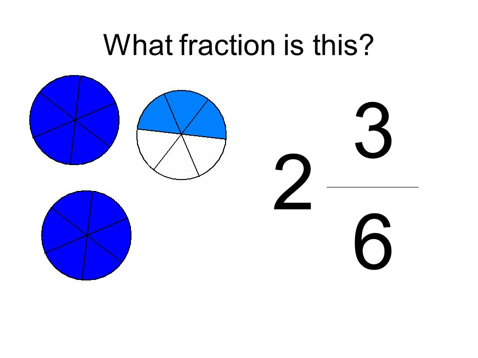 What fraction is this? 3 6 2