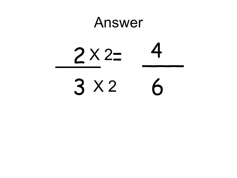 Answer 2 = ___ 3 6 4 X 2