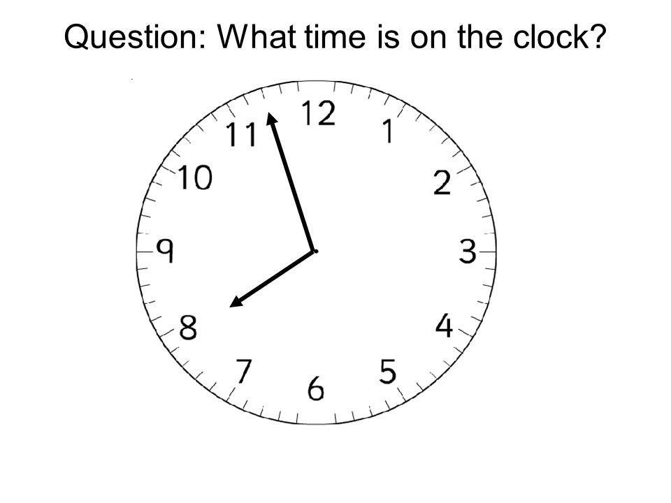 Question: What time is on the clock