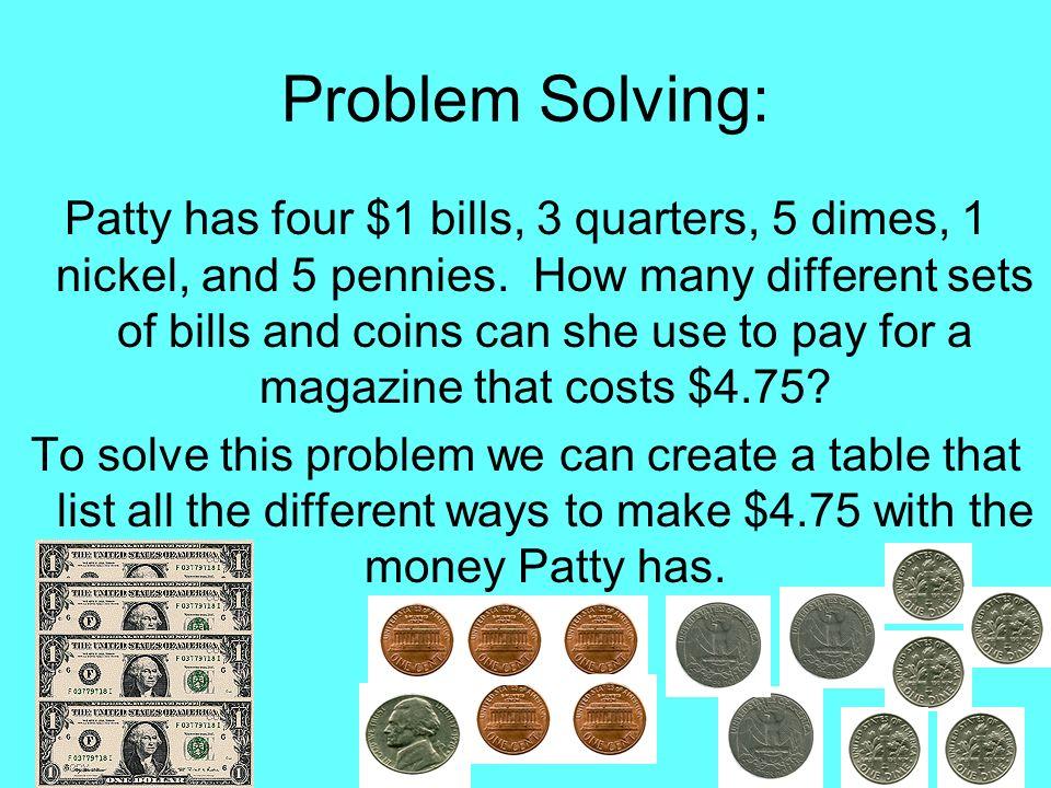 Problem Solving: value