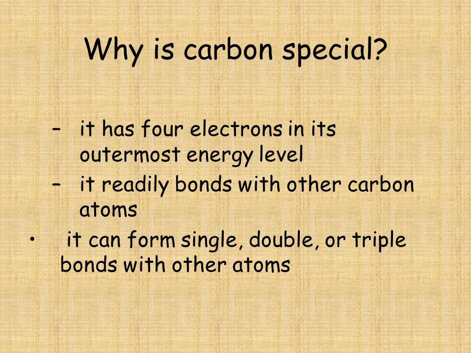 Why is carbon special.