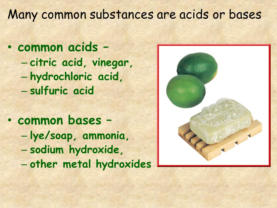Reactions Acids react with metals that are MORE active than hydrogen bases do NOT usually react with metals
