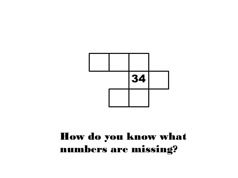 88 888 83333 34 8 34 How do you know what numbers are missing?