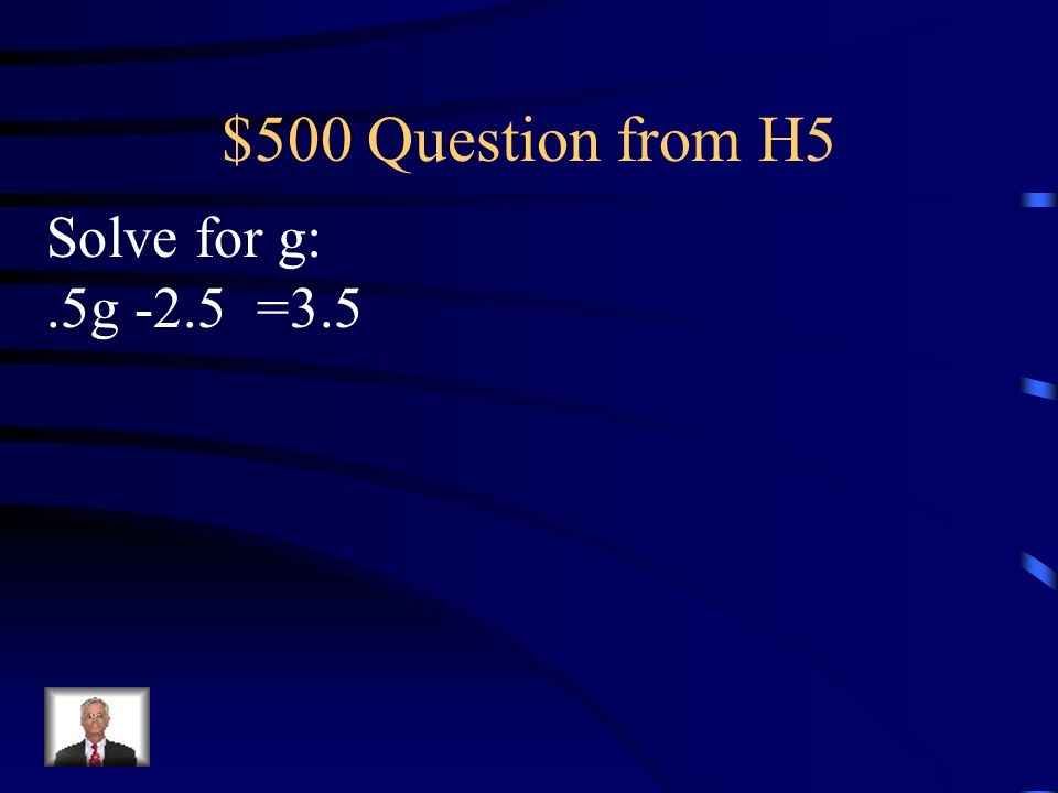 $400 Answer from H5 Solve the following A = A = 2.35