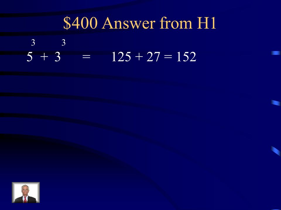 $400 Question from H =