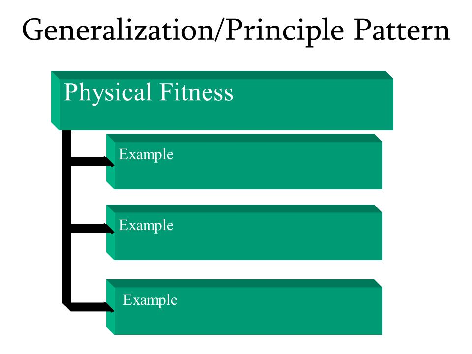 Generalization/Principle Pattern Physical Fitness Example
