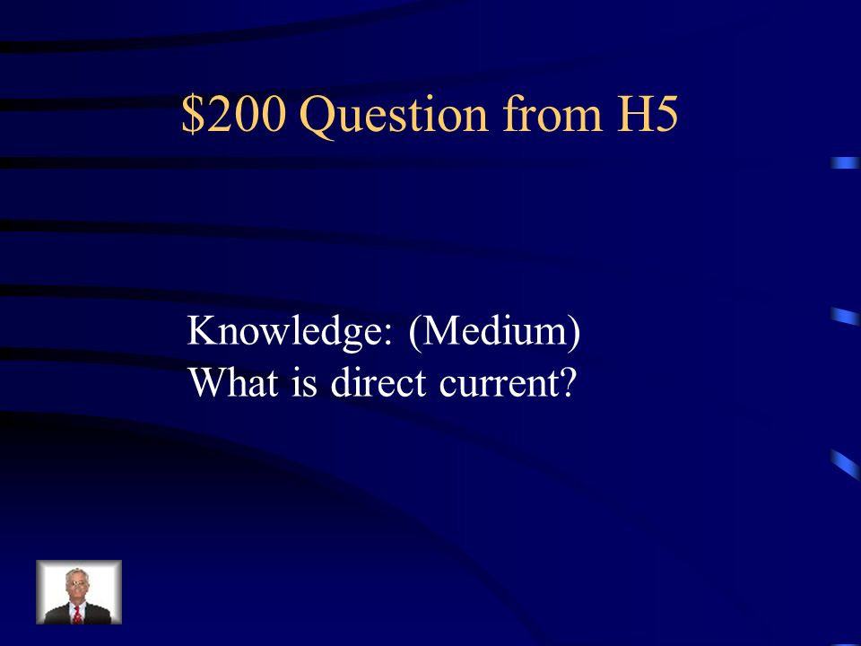 $100 Answer from H5 Knowledge: (Easy) Conductors are materials that allow electric charges to flow through them easily.